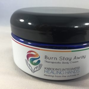 burn stay away therapeutic body cream-Karolyns integrated healing hands