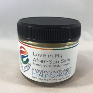 love in my after sun skin therapeutic body cream-Karolyns integrated healing hands